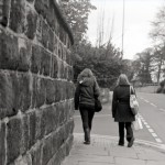 girls walking home