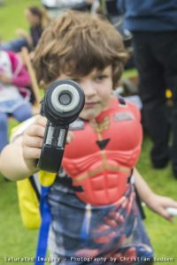 Image of a child dressed as a Power Ranger